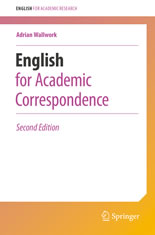 English for Academic Correspondence and Socializing book cover