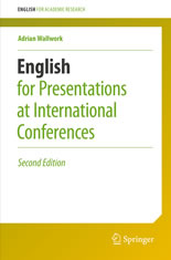 English for Presentations at International Conferences book cover