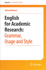 Cover of English for Research: Grammar, Usage and Style